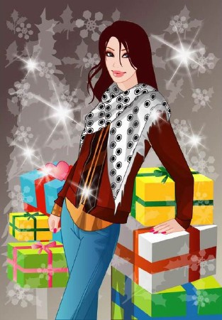 Winter-women-free-vector