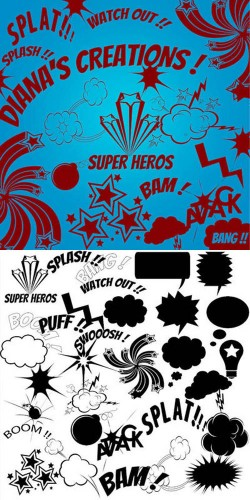 Comic Action Brushes