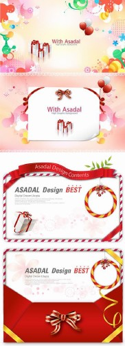 Decorative holiday gift Vector Scene